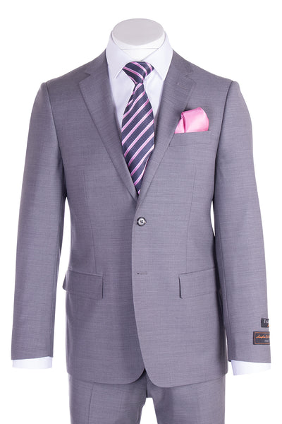 Novello Light Gray Pure Wool Men's Suit by Tiglio Luxe E09063/26  Tiglio - Italian Suit Outlet