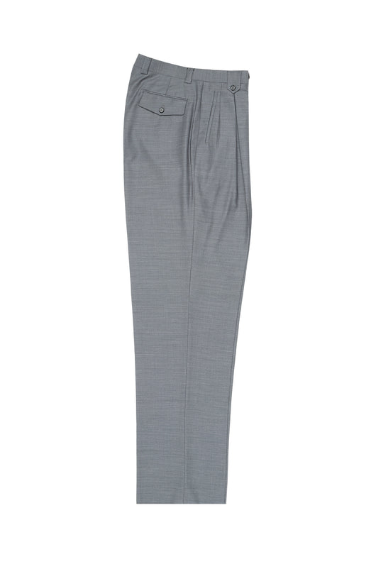 Light Gray Wide Leg, Pure Wool Dress Pants by Tiglio Luxe E09063/26  Tiglio - Italian Suit Outlet