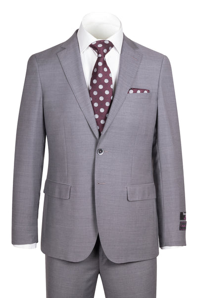 Porto Gray, Slim Fit, Pure Wool Suit by Tiglio Luxe E09063/26  Tiglio - Italian Suit Outlet
