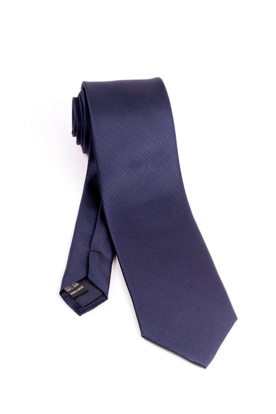 Pure Silk Navy with Horizontal Lines Tie by Tiglio Luxe  Tiglio - Italian Suit Outlet