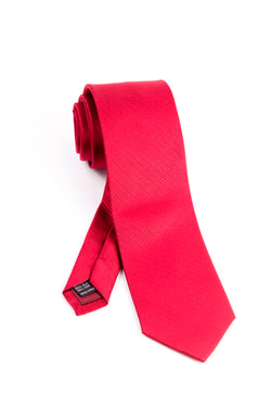 Pure Silk Red with Horizontal Lines Tie by Tiglio Luxe