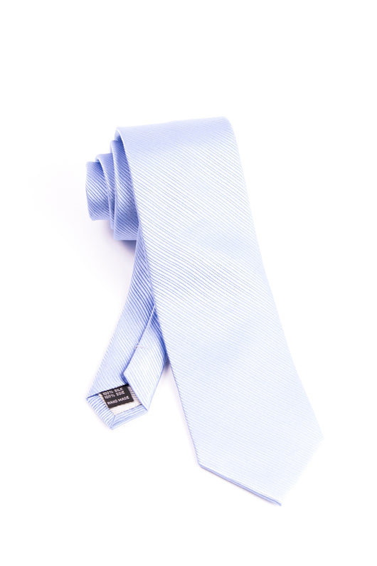 Pure Silk Light Blue with Horizontal Lines Tie by Tiglio Luxe