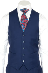 Tiglio Luxe Tufo, Modern Fit, French Blue, Pure Wool Suit & Vest  Tiglio - Italian Suit Outlet