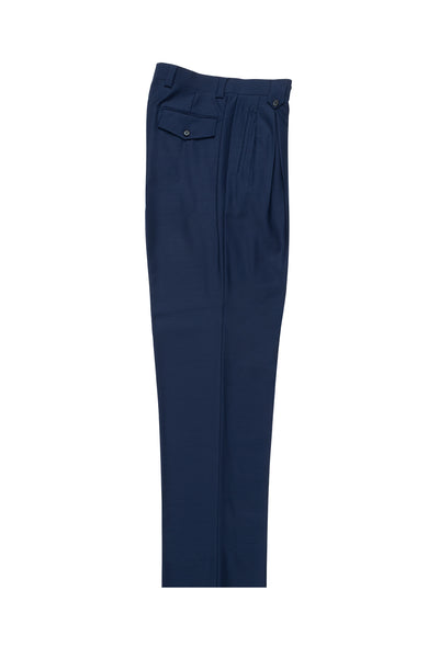 French Blue Wide Leg, Pure Wool Dress Pants by Tiglio Luxe  Tiglio - Italian Suit Outlet