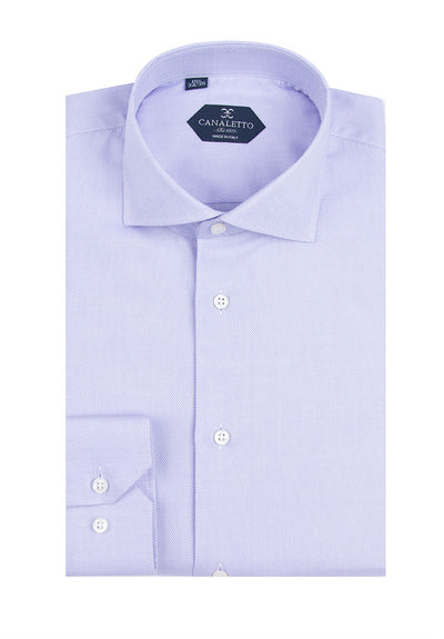 Lavender Textured Dress Shirt, Regular Cuff, by Canaletto Firenze/E8  Canaletto - Italian Suit Outlet
