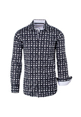 Black and White Modern Fit Sport Shirt by Tiglio Sport FS3000/01  Tiglio - Italian Suit Outlet