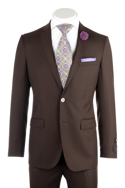 Sienna Brown , Slim Fit, Pure Wool Suit by Tiglio Luxe FT3105/3  Tiglio - Italian Suit Outlet