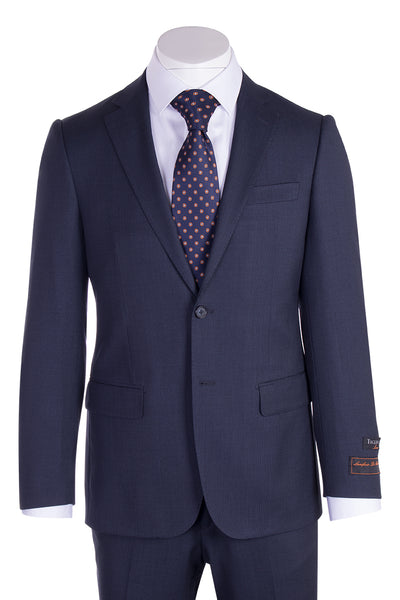Novello Blue Birdseye Pure Wool Men's Suit by Tiglio Luxe IDM7018/9  Tiglio - Italian Suit Outlet