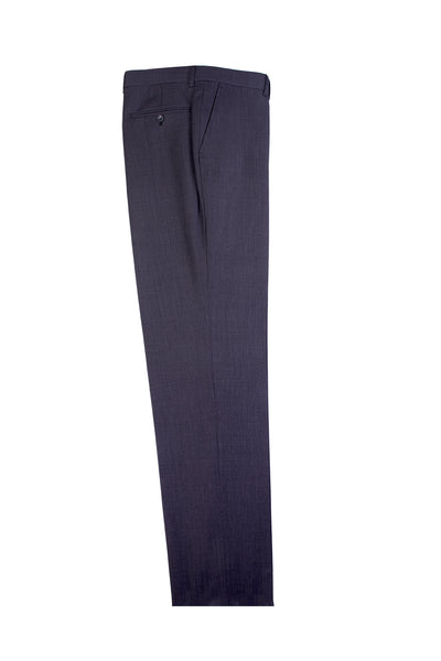 Gray Birdseye Flat Front, Pure Wool Dress Pants by Tiglio Luxe IDM7018/4  Tiglio - Italian Suit Outlet