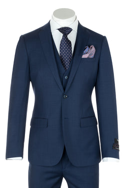 Sienna New Blue, Slim Fit Suit & Vest by Tiglio Luxe TS4066/2  Tiglio - Italian Suit Outlet