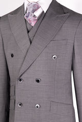EST Light Gray Suit & Vest by Tiglio Rosso E09063/26  Tiglio - Italian Suit Outlet
