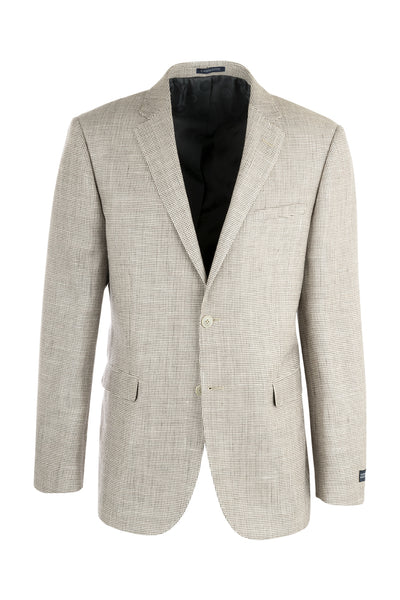 Sangria Beige Patterned Silk & Wool Jacket by Canaletto Menswear MS/97  Canaletto - Italian Suit Outlet