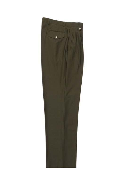 Olive Wide Leg, Pure Wool Dress Pants by Tiglio Luxe  Tiglio - Italian Suit Outlet