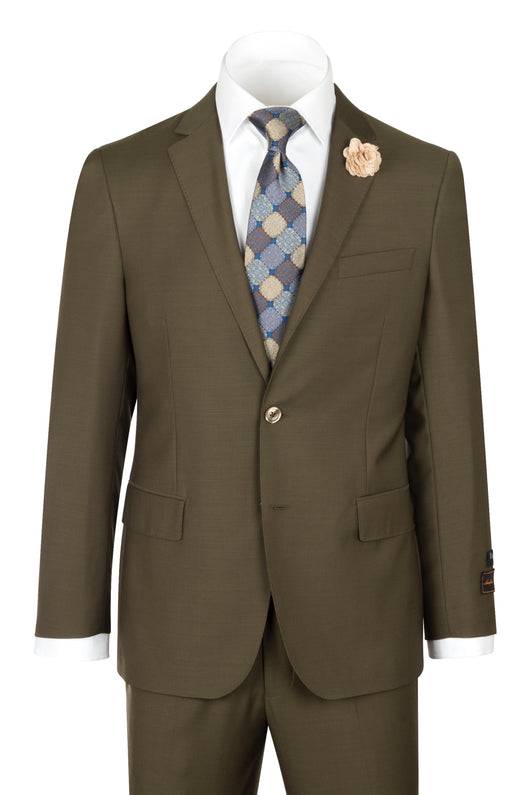 Novello Olive Pure Wool Men's Suit by Tiglio Luxe OLIVE  Tiglio - Italian Suit Outlet