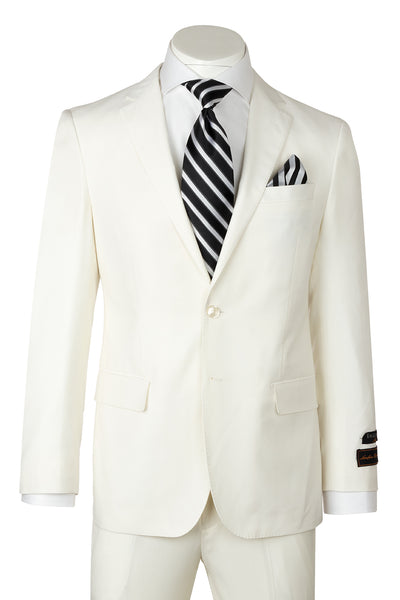 Novello Off-White Pure Wool Men's Suit by Tiglio Luxe  Tiglio - Italian Suit Outlet