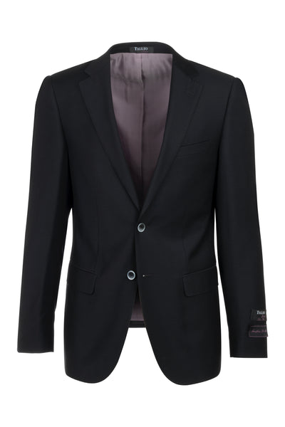 Porto Black Slim Fit Pure Wool Blazer by Tiglio Luxe TIG1001  Tiglio - Italian Suit Outlet