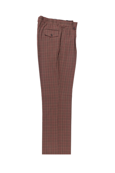 Tupe black and green windowpane Wide Leg, Pure Wool Dress Pants by Tiglio Luxe R7404/3  Tiglio - Italian Suit Outlet