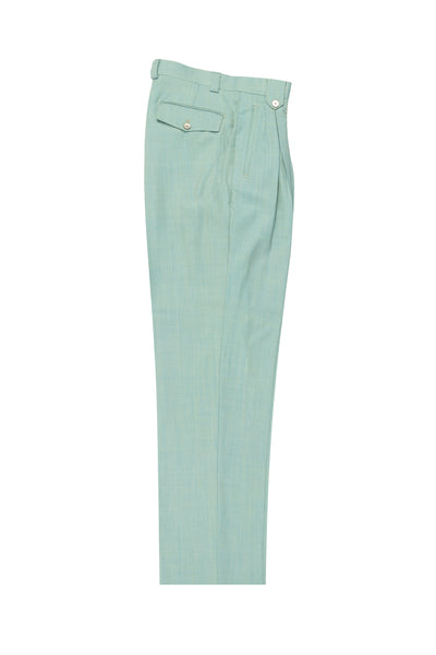 Mint Green, Wide Leg Wool Dress Pant 2586/2576 by Tiglio Luxe RS13005/1  Tiglio - Italian Suit Outlet