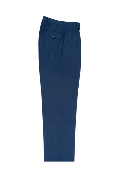 New Blue Wide Leg, Pure Wool Dress Pants by Tiglio Luxe RS5420/3  Tiglio - Italian Suit Outlet
