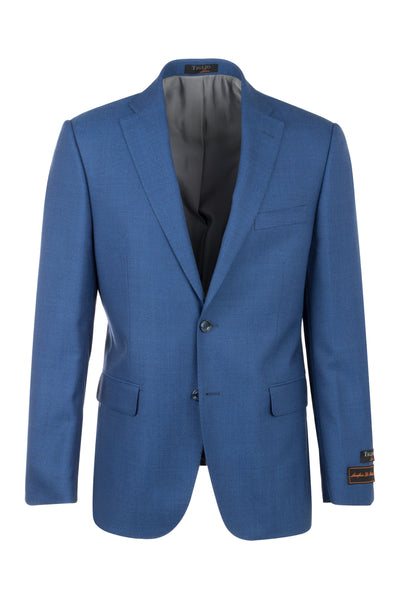 Dolcetto French Blue Modern Fit, Pure Wool Jacket by Tiglio Luxe RS5425/2  Tiglio Luxe - Italian Suit Outlet