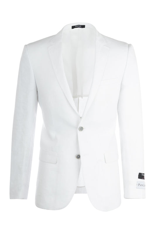 Sienna White Slim Fit, Linen Jacket by Tiglio Luxe RS5620/10  Tiglio - Italian Suit Outlet
