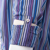 Multi-Color Striped Modern Fit Sport Shirt by Equilibrio Sport SP4793  Equilibrio - Italian Suit Outlet