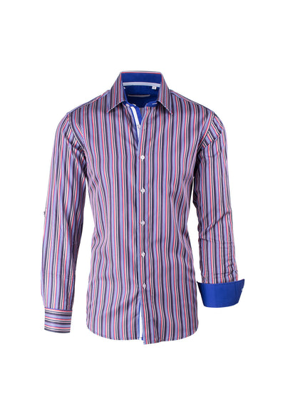 Multi-color Striped Modern Fit Sport Shirt by Equilibrio Sport SP4795  Equilibrio - Italian Suit Outlet