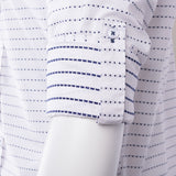 White with Navy Polka-Dot Pattern Modern Fit Sport Shirt by Tiglio Sport SP8013/2  Tiglio - Italian Suit Outlet