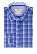 White, Blue and Purple Plaid Modern Fit Sport Shirt by Tiglio Sport SP9014
