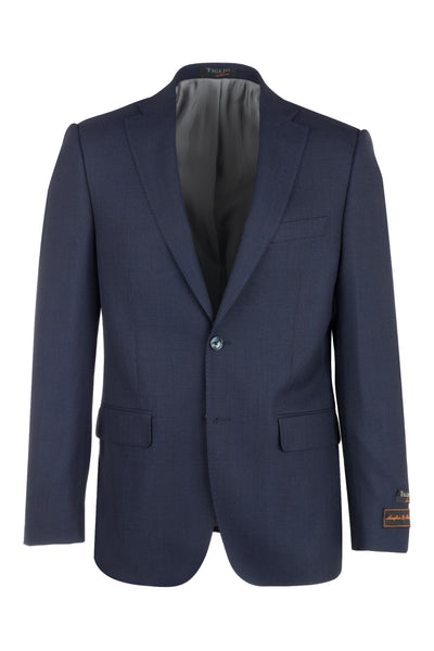 Dolcetto Midnight Blue Modern Fit, Pure Wool Jacket by Tiglio Luxe T10.712/374  Tiglio Luxe - Italian Suit Outlet