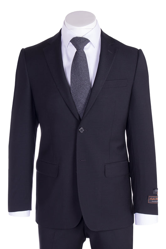 Novello Black Pure Wool Men's Suit by Tiglio Luxe TIG1001  Tiglio - Italian Suit Outlet
