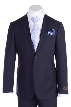 Novello Navy Blue Pure Wool Men's Suit by Tiglio Luxe TIG1002  Tiglio - Italian Suit Outlet