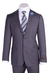 Novello Medium Gray Pure Wool Men's Suit by Tiglio Luxe TIG1008  Tiglio - Italian Suit Outlet