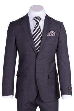 Novello Charcoal Gray Pure Wool Men's Suit by Tiglio Luxe TIG1010  Tiglio - Italian Suit Outlet