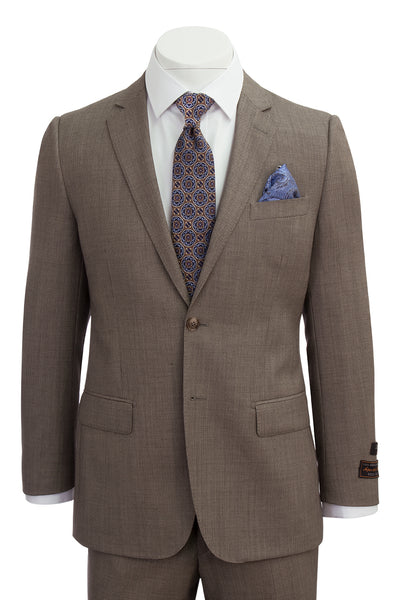 Novello Tan Birdseye Pure Wool Men's Suit by Tiglio Luxe TIG1017  Tiglio - Italian Suit Outlet