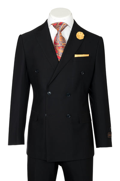 Tiglio Luxe Merlot, Modern Fit, Black, Pure Wool Men's Suit TIG1001  Tiglio - Italian Suit Outlet