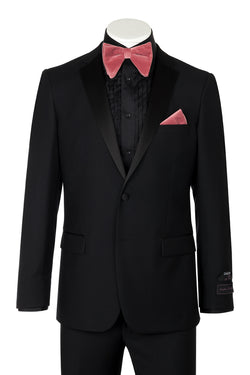 Tiglio Luxe Sienna, Slim Fit, Black, Pure Wool Tuxedo TIG1001  Tiglio Luxe - Italian Suit Outlet