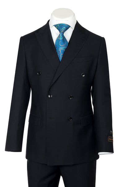 Tiglio Luxe Merlot, Modern Fit, Navy, Pure Wool Men's Suit TIG1002  Tiglio - Italian Suit Outlet
