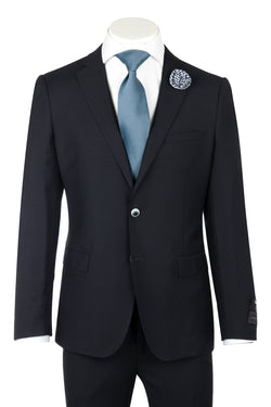 Porto Dark Navy, Slim Fit, Pure Wool Suit by Tiglio Luxe TIG1002  Tiglio - Italian Suit Outlet