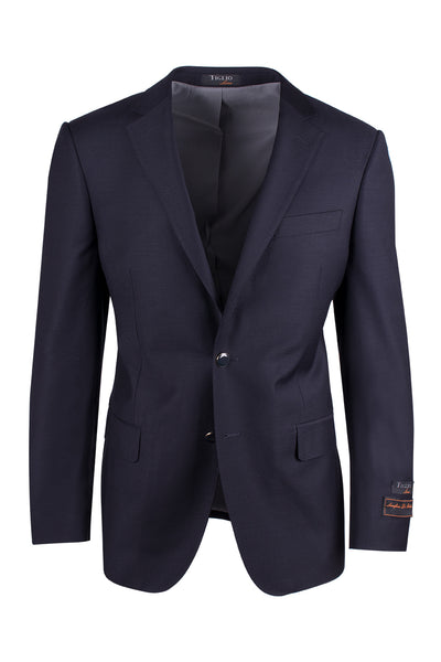 Novello Navy Blue, Modern Fit, Pure Wool Blazer by Tiglio Luxe TIG1002  Tiglio - Italian Suit Outlet
