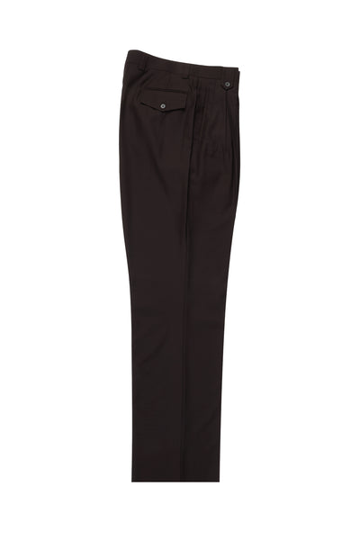 Brown Wide Leg, Pure Wool Dress Pants by Tiglio Luxe TIG1003  Tiglio - Italian Suit Outlet