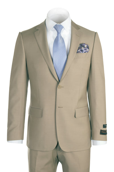 Novello Tan Pure Wool Men's Suit by Tiglio Luxe TIG1004  Tiglio - Italian Suit Outlet