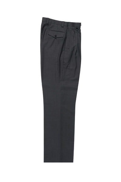 Gray Wide Leg, Pure Wool Dress Pants by Tiglio Luxe TIG1008  Tiglio - Italian Suit Outlet