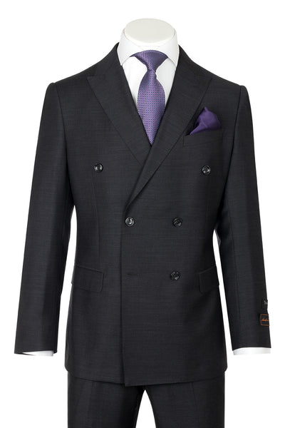 Tiglio Luxe Merlot, Modern Fit, Charcoal Gray, Pure Wool Men's Suit TIG1010  Tiglio - Italian Suit Outlet