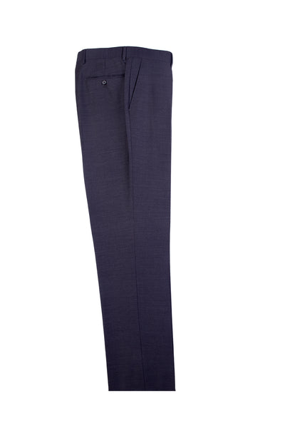 Charcoal Gray Flat Front, Pure Wool Dress Pants by Tiglio Luxe TIG1010  Tiglio - Italian Suit Outlet