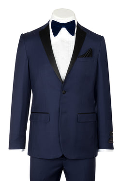 Tiglio Luxe Sienna, Slim Fit, French Blue, Pure Wool Tuxedo TIG5966