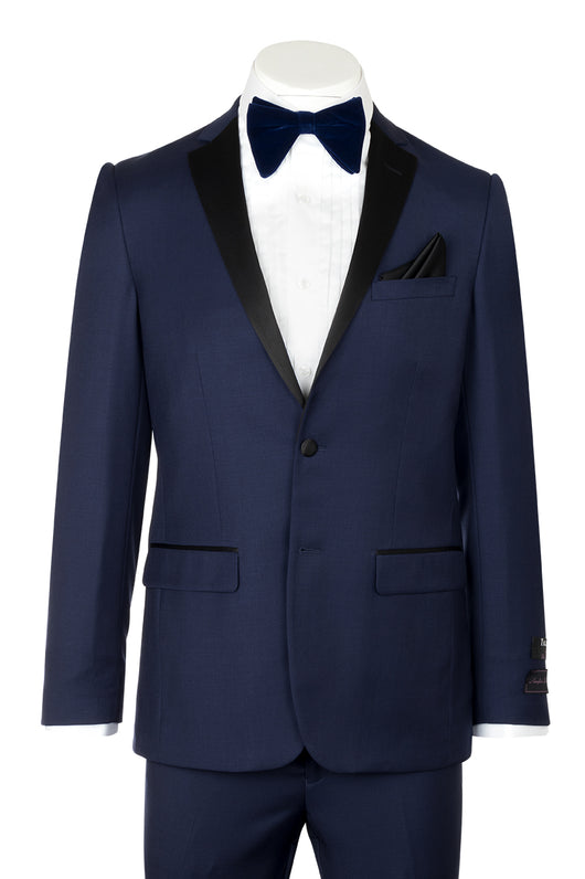 Tiglio Luxe Sienna, Slim Fit, French Blue, Pure Wool Tuxedo TIG5966  Tiglio Luxe - Italian Suit Outlet