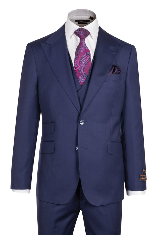 Tiglio Luxe Prosecco, French Blue Modern Fit, TIG5966, Pure Wool Suit & Vest  Italian Suit Outlet - Italian Suit Outlet