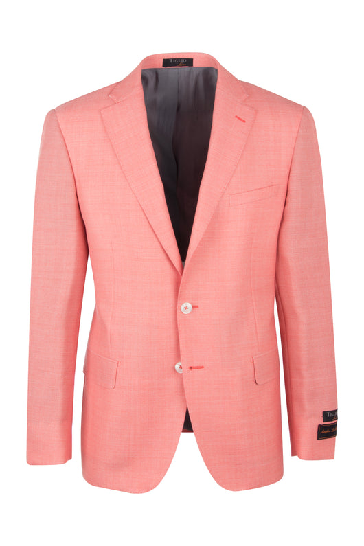 Dolcetto Salmon Modern Fit, Pure Wool Jacket by Tiglio Luxe TL10712/394  Tiglio Luxe - Italian Suit Outlet