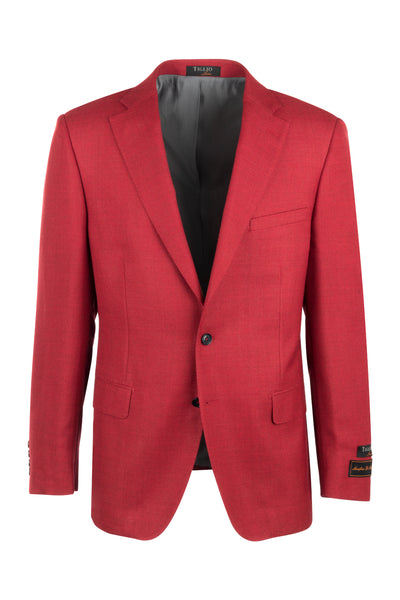 Dolcetto Sangria Red Modern Fit, Pure Wool Jacket by Tiglio Luxe TL10712/395  Tiglio Luxe - Italian Suit Outlet